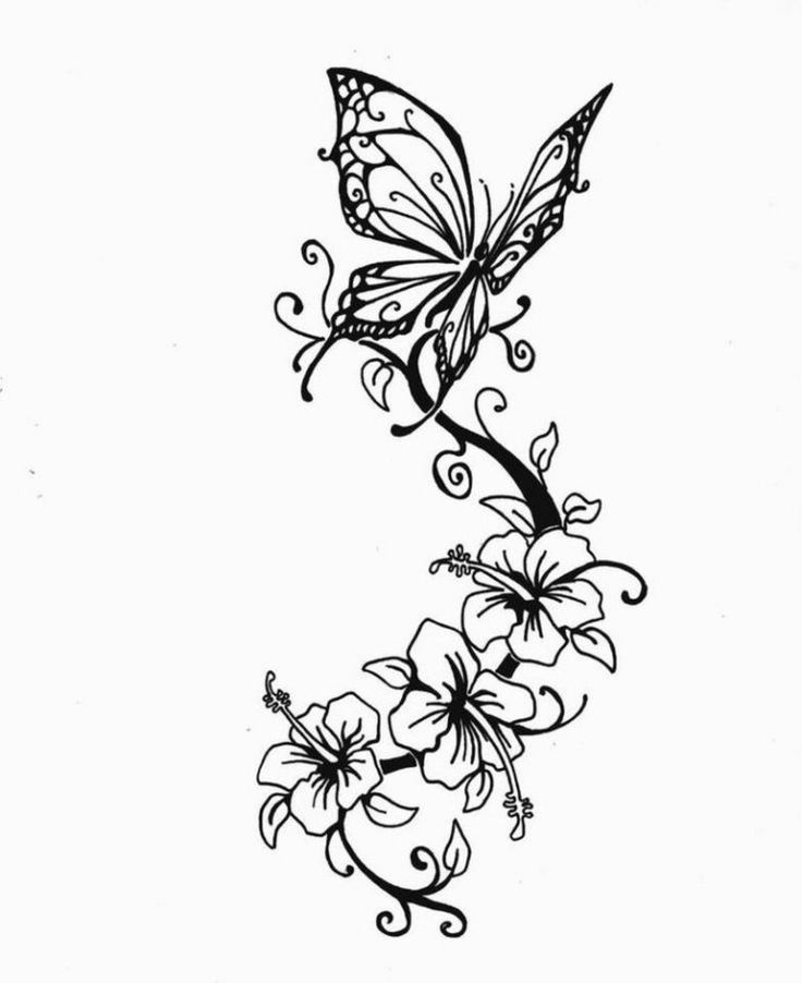 Blumenranken Tattoo: 20 schöne Vorlagen für verschiedene Körperteile   – Glas gravieren
