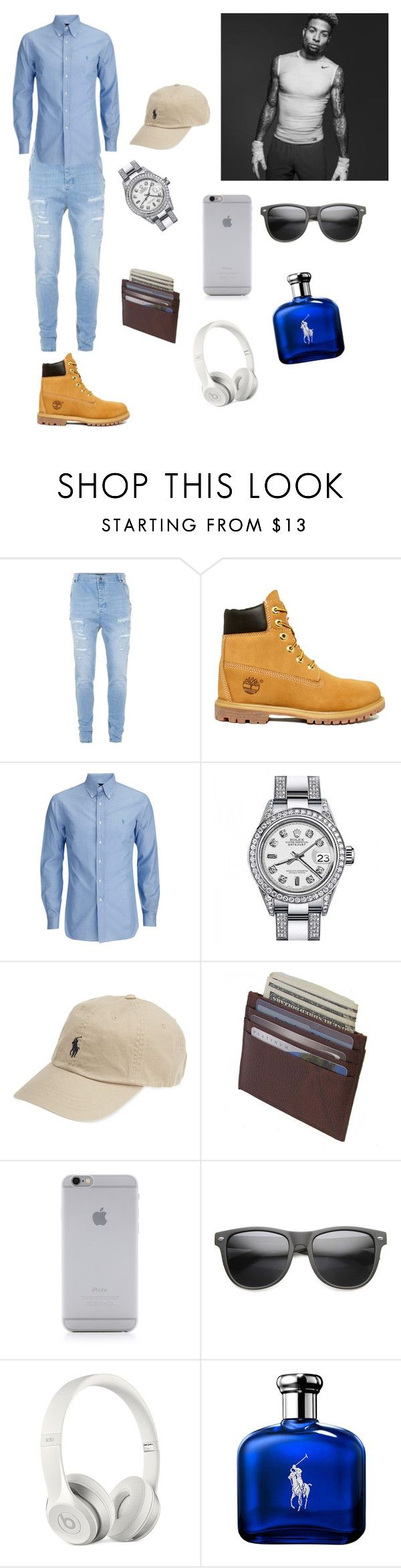 """"""""""" by tori1678 ❤ liked on Polyvore featuring Topman, Timberland, Rolex, Polo Ralph Lauren, Native Union, ZeroUV, Beats by Dr. Dre, Ralph Lauren, men's fashion and menswear"""