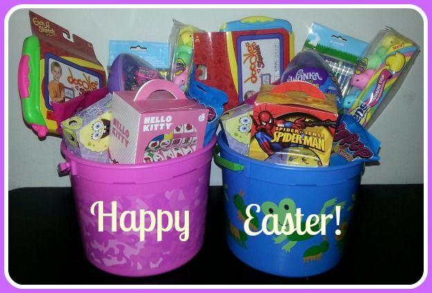 2 Easter baskets. 1 boy and 1 girl
