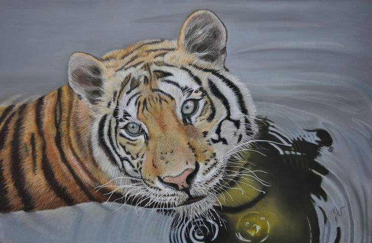 """""""Bagnetto""""  Soft Pastel on paper 40X60 By Stefano Orio"""