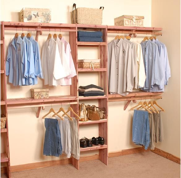 Deluxe solid wall closet organization kit 10 39 closet for Closet system ideas