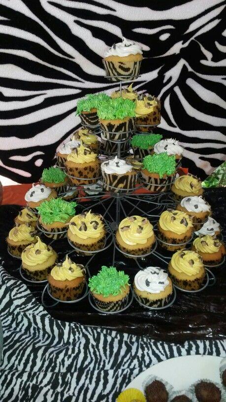 Cupcakes en zafari