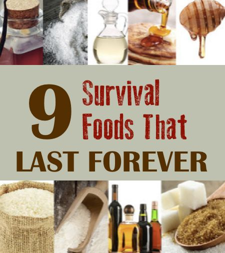 9 Survival Foods That Last Forever...http://homestead-and-survival.com/9-survival-foods-that-last-forever-2/