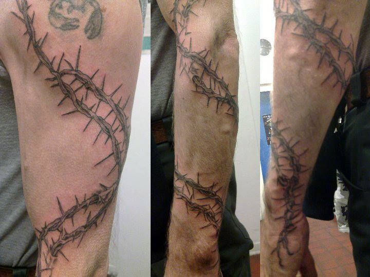26 best barbed wire tattoos images on pinterest barbed for Barb wire tattoo sleeve