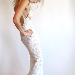 fantastic vintage crochet dress from the 70's.  DIY?