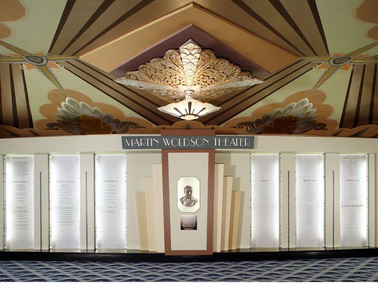 Art Deco Martin Woldson Theater at the Fox Lobby, Spokane, Washington by  architect Robert C.