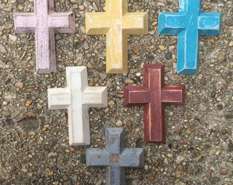 Painted Wooden Cross - Mini