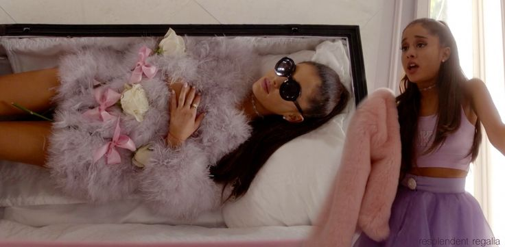 """Chanel #2 (Ariana Grande) in coffin and flashback scene from Scream Queens episode 6, """"Beware of Young Girls"""""""