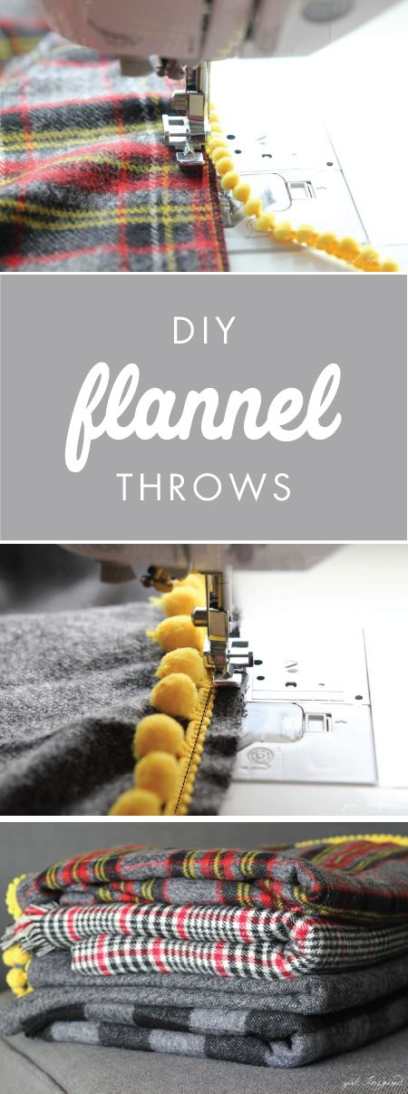 We think you'll agree that there's nothing better than cozying up with these DIY Flannel Blanket Throws this holiday season. Using plaid-patterned fabric and fringe accents, this project also makes a wonderful homemade gift idea for Christmas.