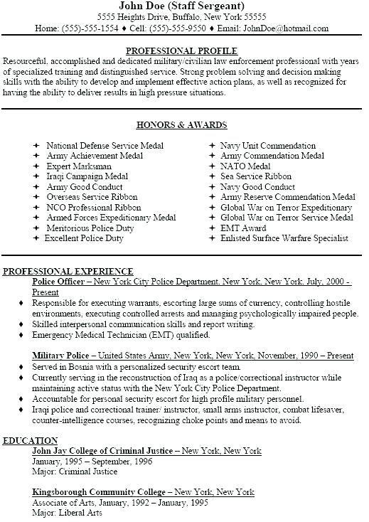 veteran resume database