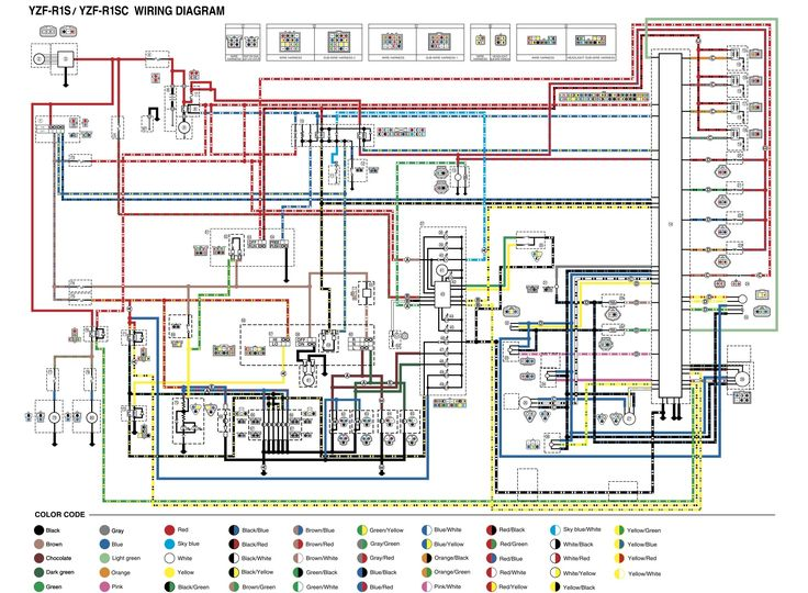 Yzf R1 Wire Diagram Wiring, Yamaha R1 Wiring Diagram