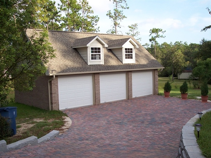 3 Car garage, across from another 3 car garage attached to