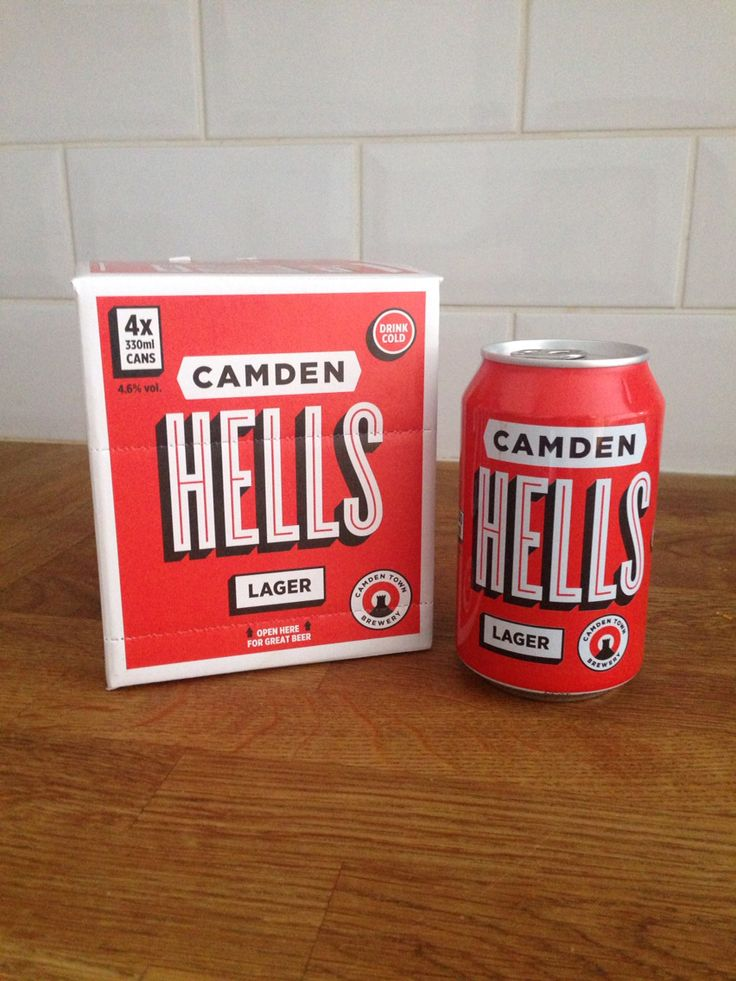 Camden Town Brewery // Hells Lager 4 x 330ml Pack. 4.6% ABV.