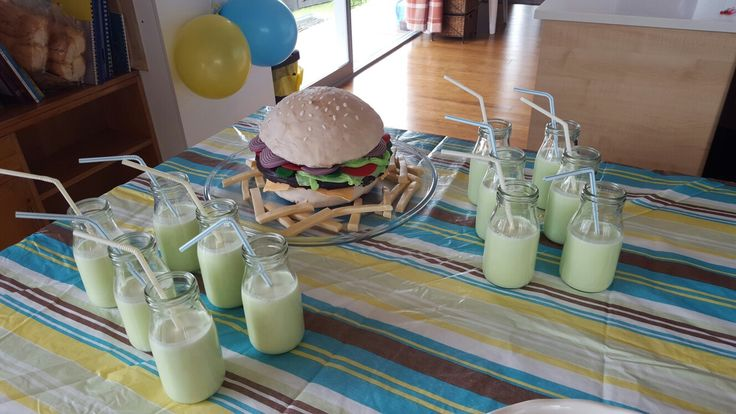 Hamburger cake birthday  party