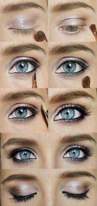 Eye make-up for blue eyes.