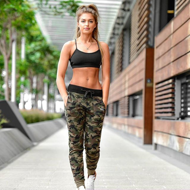 @strongliftwear It's about time huh!? But the wait is over ladies, our much anticipated women's camo trackies have just landed and the fit is ON POINT!!!!  as our customers will know by now, we never put anything into the market  until it's perfect so there is method to our madness   Emily Craig featured wearing size small  Available now at www.strongliftwear.com