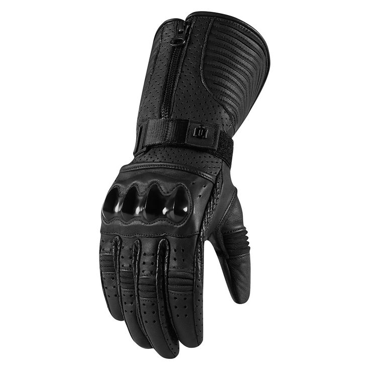 A full gauntlet of decadent French cowhide, custom molded knuckles, and tailored for a woman's hand. Governments have been toppled for less. The Fairlady Glove is the hand wear of an agent provocateur. Built for the rigors of hardcore motorcycle riding, but with the fierce silhouette defined by the ICON 1000 womens collection. Extensive use of laser detailing, TPU plate, integrated flex zones, and floating knuckle construction make this glove equally at home on either the track or the…
