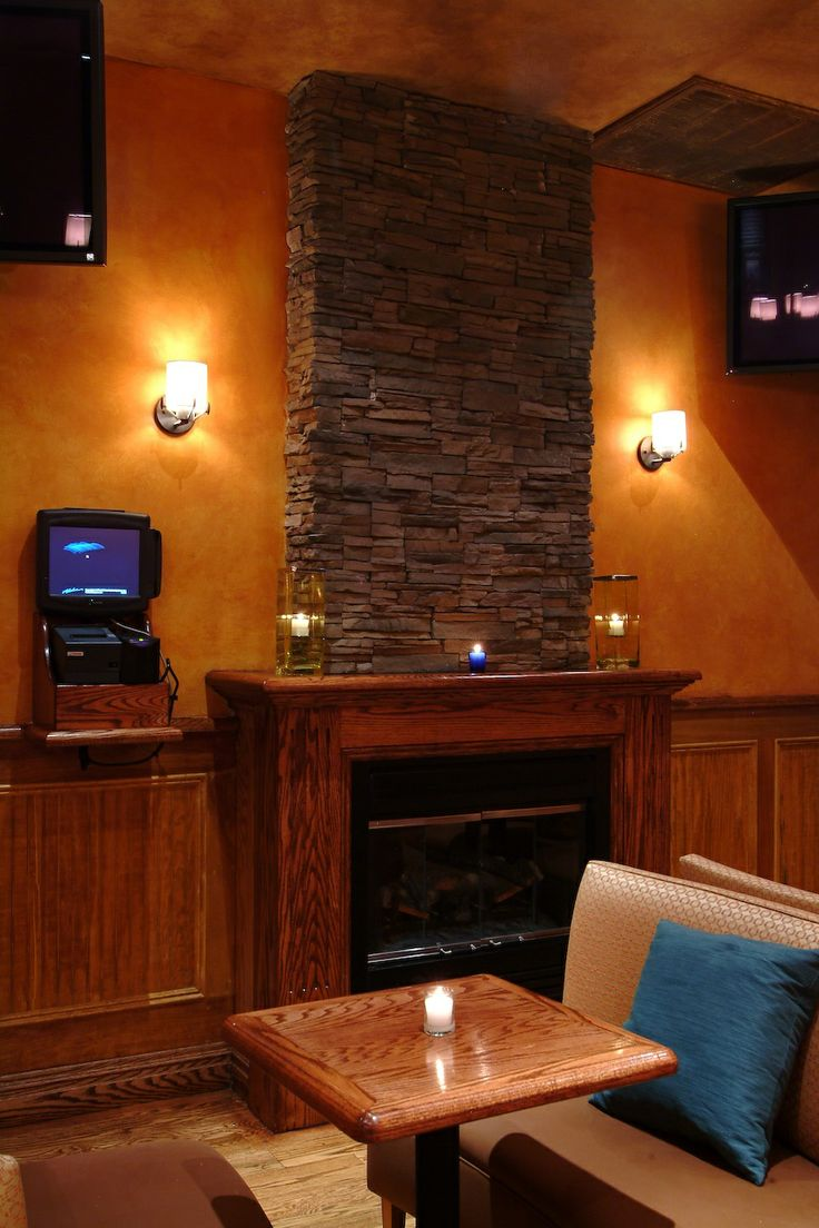 Interior with fire place #whiskeytrader #bar #lounge #newyork #nycbar #fun #games #drinks #cocktails #wine #beer #friends #happyhour