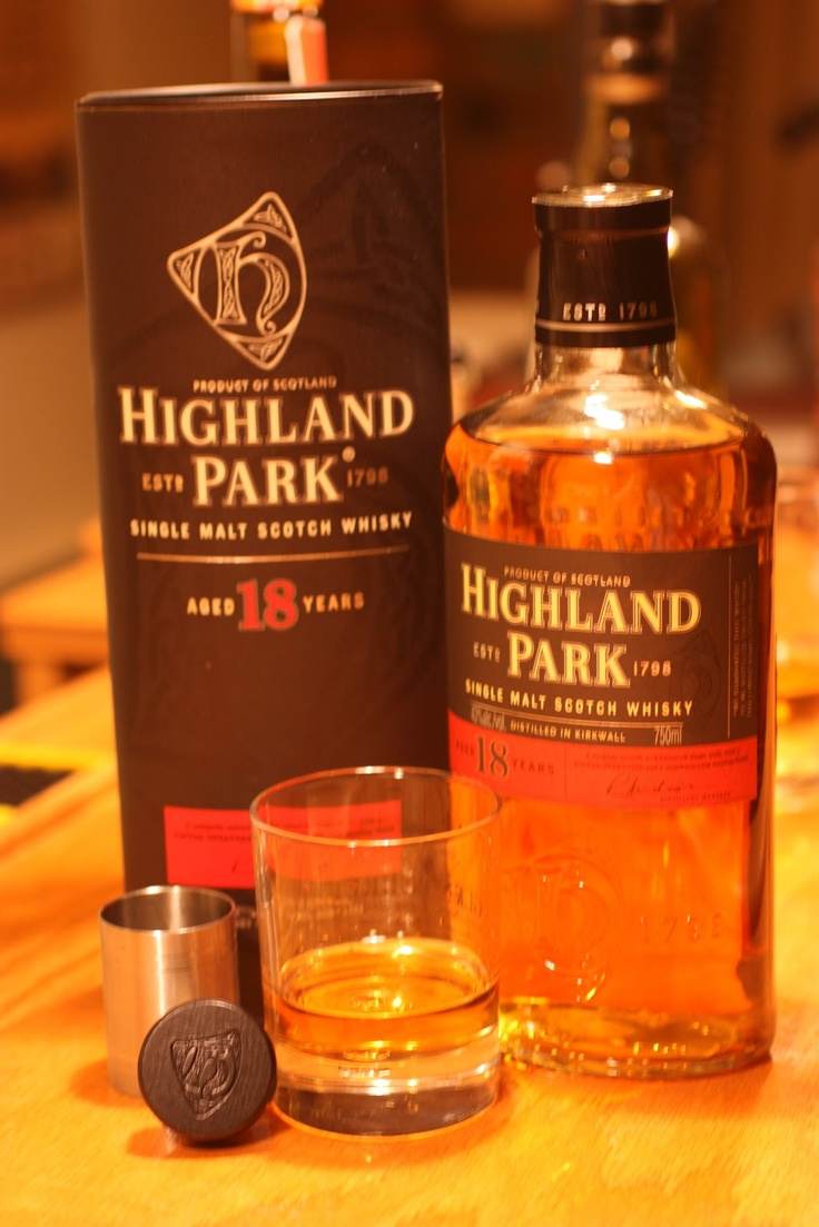 Highland Park 18 Year Old Single Malt Scotch Whiskey