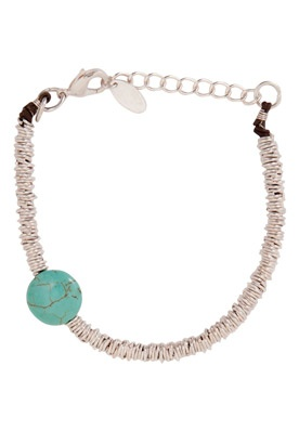 Turquoise & Silver Ring Bracelet