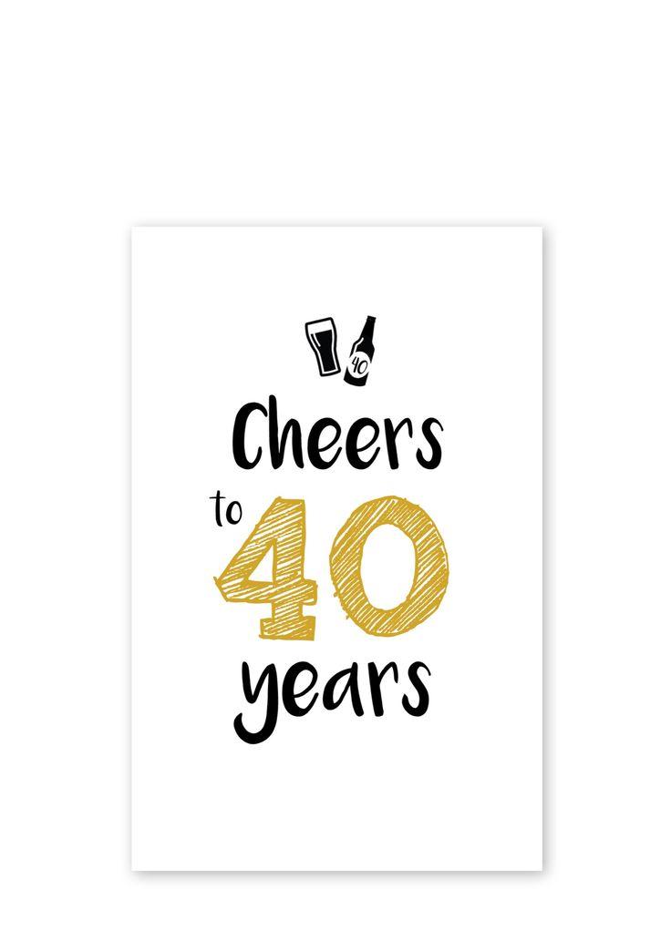 uitnodiging 40 jaar verjaardag