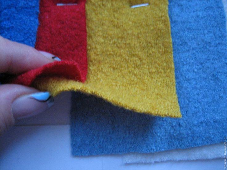 Купить Ткань шерсть Лоден Охра - теплая юбка, вареная шерсть, для шитья одежды