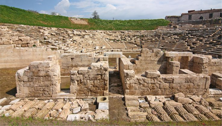 Ancient theater in Larissa, Greece...I have to go to this city!