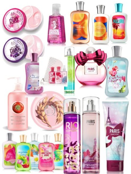 Bath and Body Works! These are my favorite scents from them!