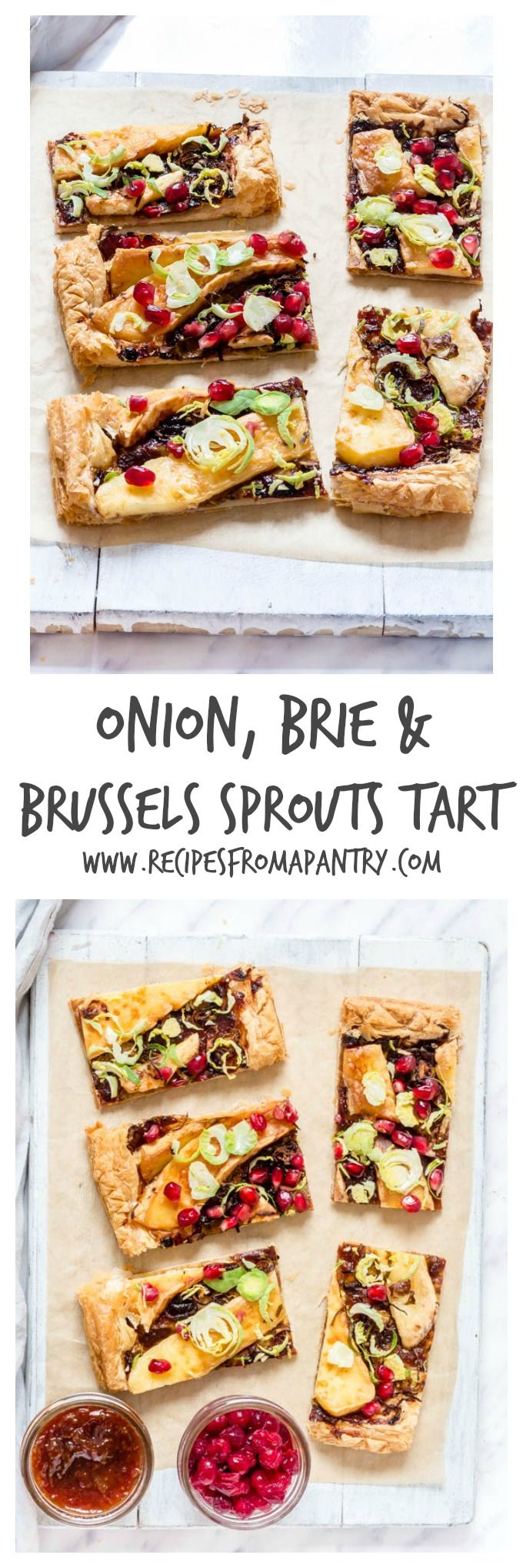 Caramelised Onion, Brie And Brussels Sprout Tart | Recipes From A Pantry