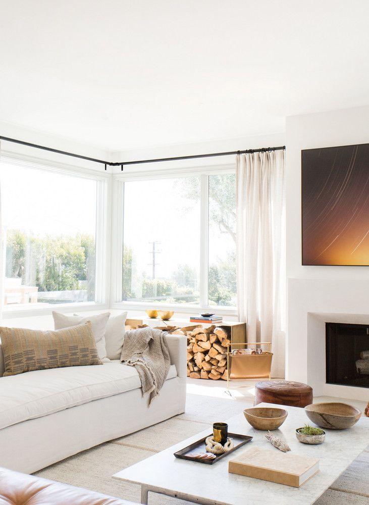 Minimalist Malibu Home Modern Contemporary Living Room