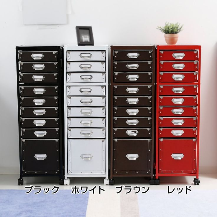 Amazon.co.jp: チェスト 書類ケース 書類整理棚 スチール ブラック: 文房具・オフィス用品