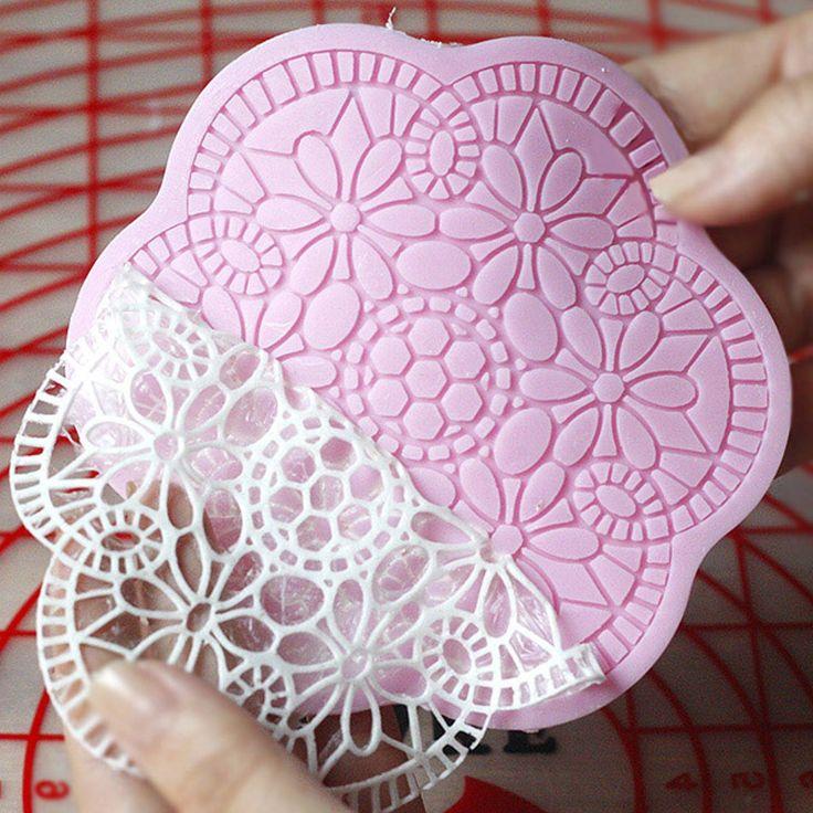Small Five Petal Flower Design Fondant Mats Polymer Clay