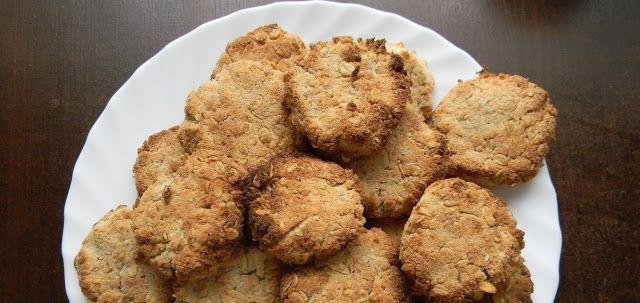 Kuchnia bez glutenu (też wegańska od maja 2017 r.): Ciasteczka owsiano-kokosowe (wegańskie i bezgluten...