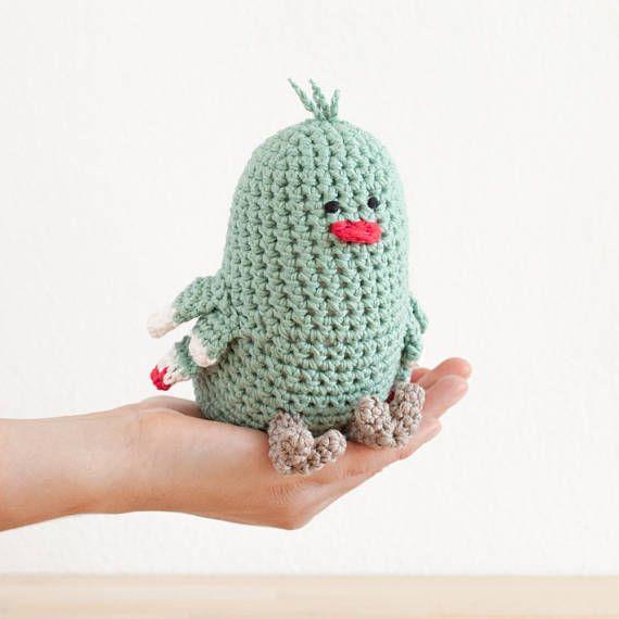 Süße Vogel-Spieluhr gehäkelt. #etsyde#weihnachtsgeschenke#handgemacht #FindeDeinWeihnachten
