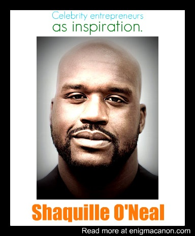 Check out enigmacanon.com to read more about how Shaq is a great inspiration for entrepreneurs!