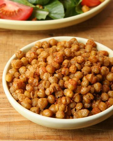 Season crunchy chickpeas with a little bit of salt and Pimento for an addictive snack that takes just minutes to make.