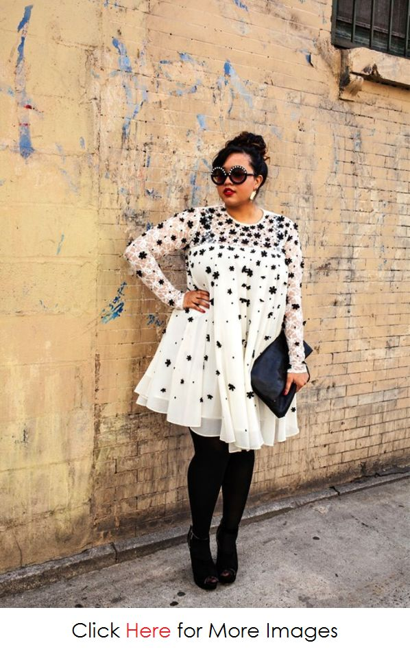 2013 Fall Fashion for Plus Size Women, Wonderful and Chic 2013 Fall Fashion for Plus Size Women Lace Dress Flower – www.PlusSizely.com