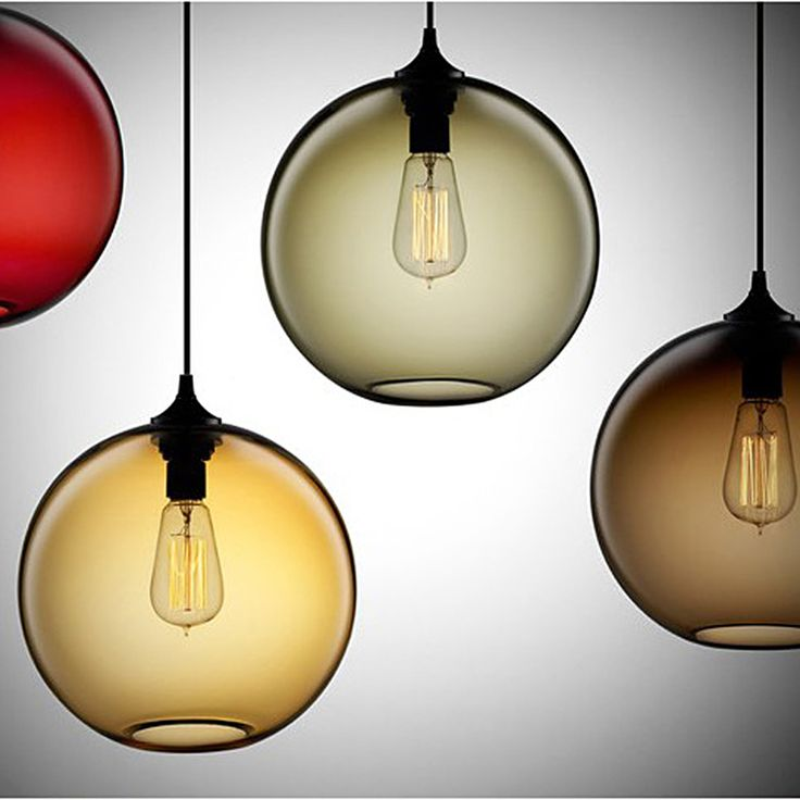 Retro Vintage Pendant Lights Colours Glass Lampshade Loft Pendant Lamps E27 110V 220V for Dinning Room Home Decoration Lighting-in Pendant Lights from Lights & Lighting on Aliexpress.com | Alibaba Group