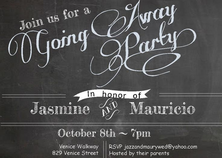 40 best farewell going away invitations images on Pinterest - farewell invitation template