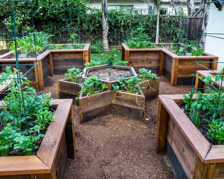 Turn One Corner Of The Back Yard Into A Tall Raised Garden For Veggies U0026  Herbs