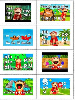Spanish QR Codes - Mono Silabo - TeacherTube Videos - FREE