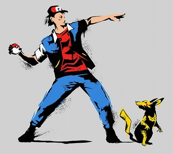 Banksy pokemon mashup.