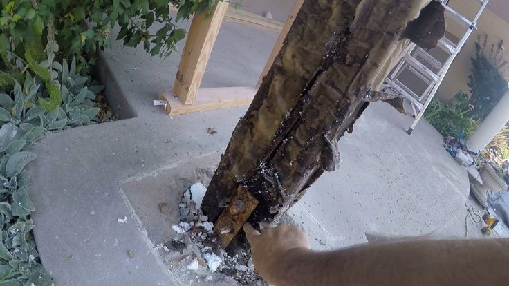 Golden Gate Enterprises SF Bay Area Dry Rot Waterproof Deck Contractor Lewis Rotted Posts - YouTube