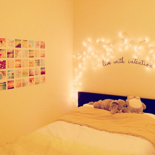 simple girls bedroom. #lights #pictures