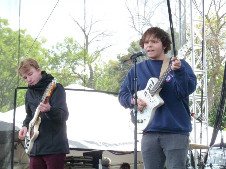 Nick sporting the Franklin Park Fire Department Sweatshirt he wore on Letterman @Riotfest Chicago