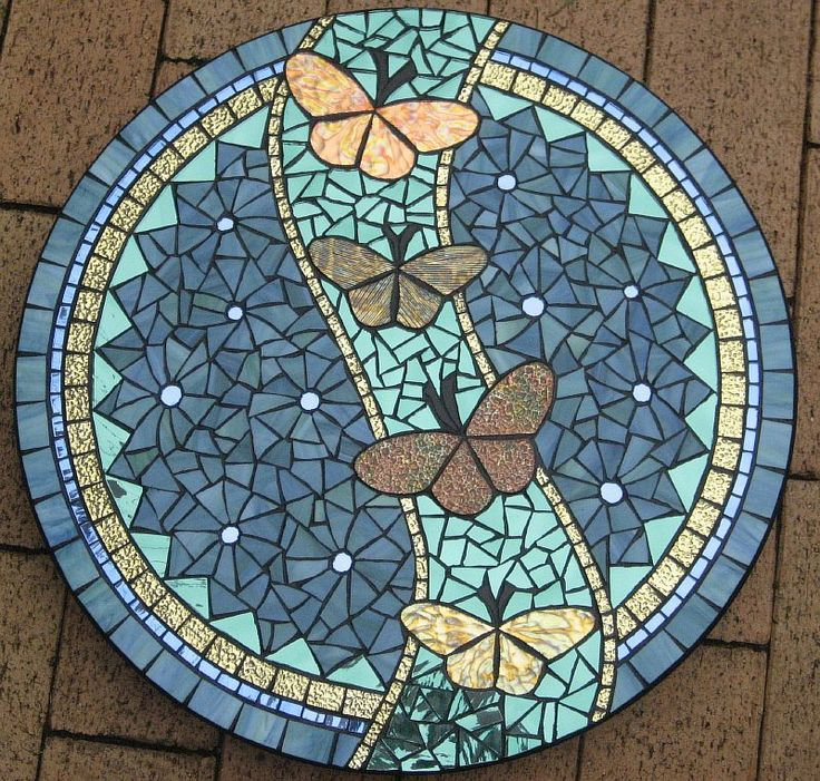 GOLD LEAF BUTTERFLIES BY GLENYS FENTIMAN Mosaic