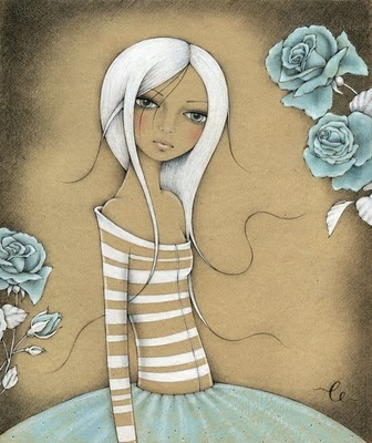 BEAUTIFUL I'm thinking create a page using...Paper bag, white & turquoise crayon or chalk