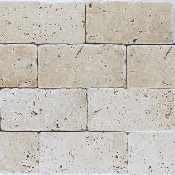 "3"" x 6"" Baja Cream Travertine Subway Tile Tumbled"