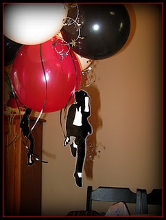 Michael Jackson balloon decorations
