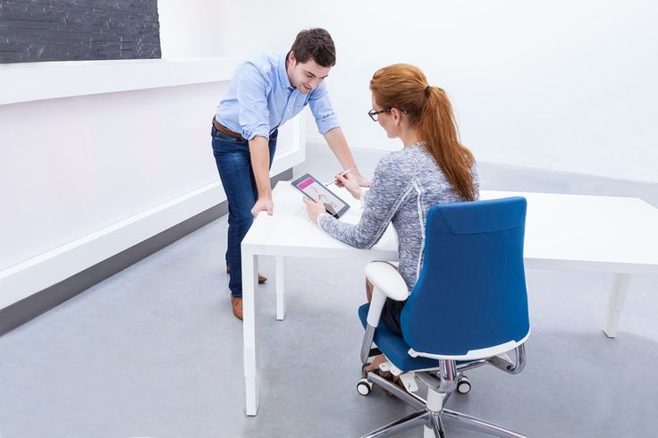 It is important that a chair is not only adjustable but also ergonomic, so that really anyone can sit on it. #officechair #ergonomics #wellbeing #InspireGreatWork